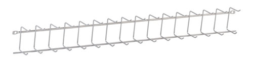 Elfa tie and hook rack in platinum 54cm deep