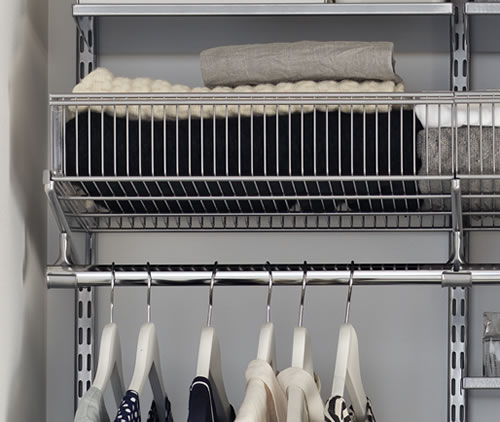 Elfa Basket Shelf 90cm Wide x 40cm Deep - Platinum