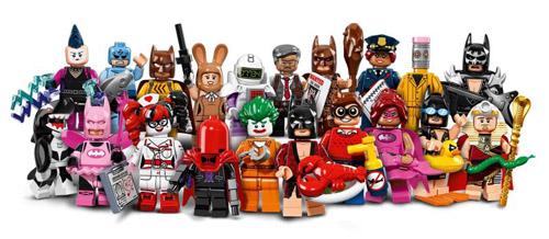 Batman themed LEGO minifigure display case