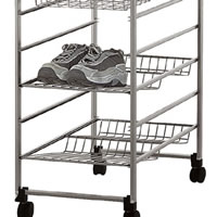 Bottle / Shoe Rack For Elfa Drawers 35cm x 54cm - Platinum