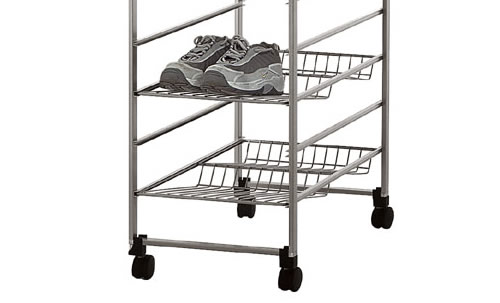 Bottle / shoe rack for elfa drawers in platinum 35cm wide x 54cm deep