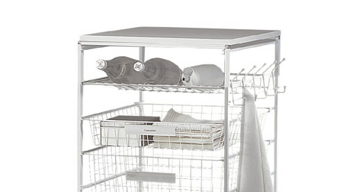 Bottle / shoe rack for elfa drawers in white 45cm wide x 54cm deep