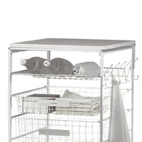 Bottle / Shoe Rack For Elfa Drawers 25cm x 54cm - White