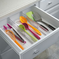 Set of 2 Expandable Drawer Organisers - Small