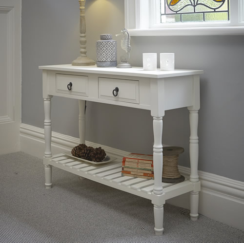 wooden console table. Classic Wooden Console Table - Ex Display