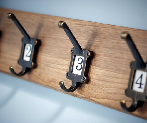 Old School Coat Rack - Solid Oak