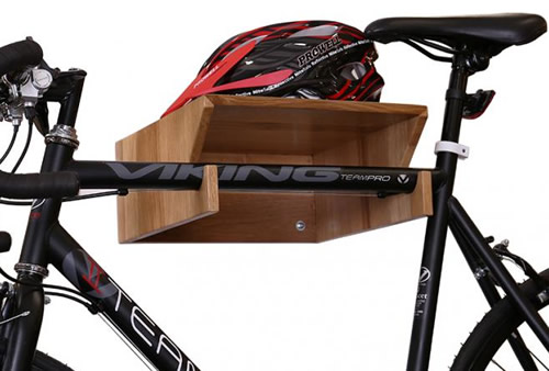 Solid Oak Bike Rack