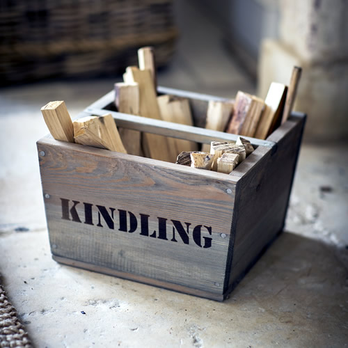 Kindling wood storage box