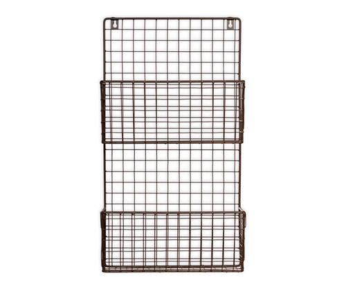 Wirework Farringdon wall mounted magazine storage rack