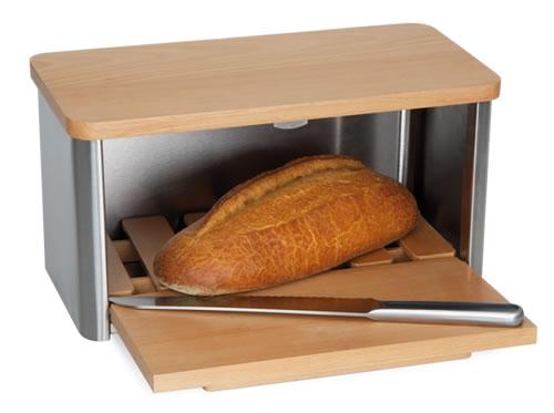 Conran bread bin with integrated chopping board