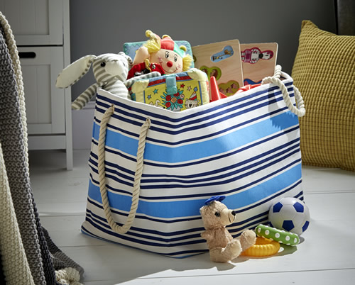 Striped Toy Storage Bag - Rectangular