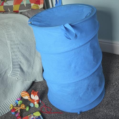 Pop up toy storage bin