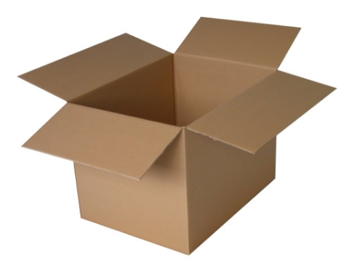 Set of 5 double walled cardboard storage boxes for moving house