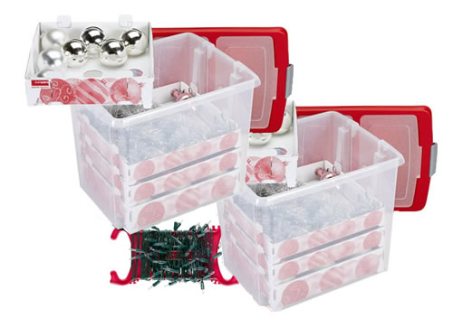 Christmas Decoration storage boxes and fairy light winders for bauble storage and much more!