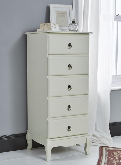 Parisian inspired 6 drawer storage tallboy