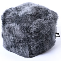Bean Bag Crazy Mighty B-Box Footstool - Sheepskin