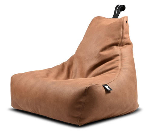 Faux leather beanbag chair from Extreme Lounging