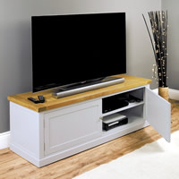 Widescreen TV Cabinet with Cupboard - Chadwick
