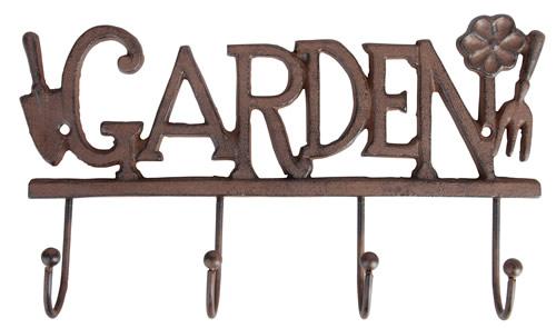 Cast iron garden tool hanger