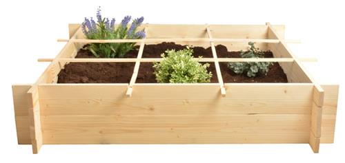 Pine wood square metre garden