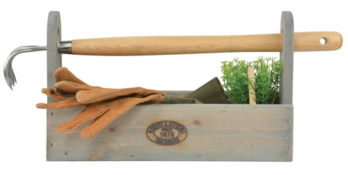 Wooden Tool Carrier With Removable Rake Handle