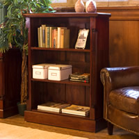 Solid Mahogany Low Open Bookcase - La Roque