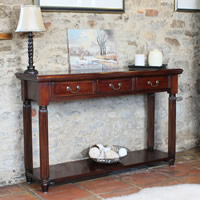 Solid Mahogany Console Table - La Roque