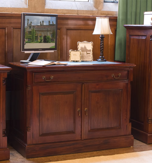 Solid mahogany hidden home office