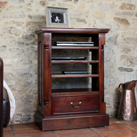 Solid Mahogany Media Cabinet - La Roque