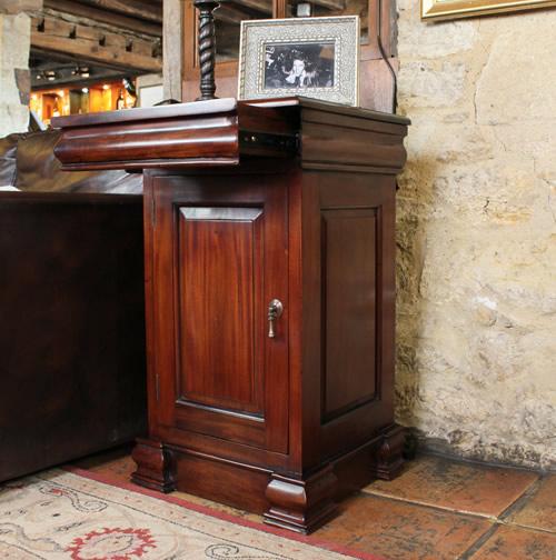 Solid mahogany lamp table