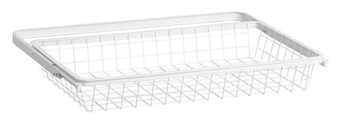 30cm Deep x 60cm Wide Wire Gliding Elfa Drawer & Basket - Shallow