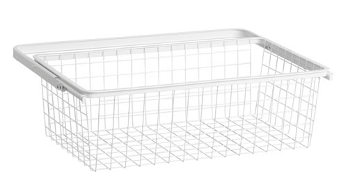 Mini 60cm Wire Gliding Drawer & Basket - Medium White