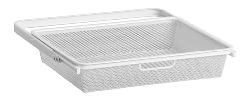 Mini 45cm Mesh Gliding Drawer & Basket - Shallow White