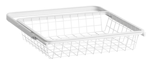Mini 45cm Wire Gliding Drawer & Basket - Shallow White