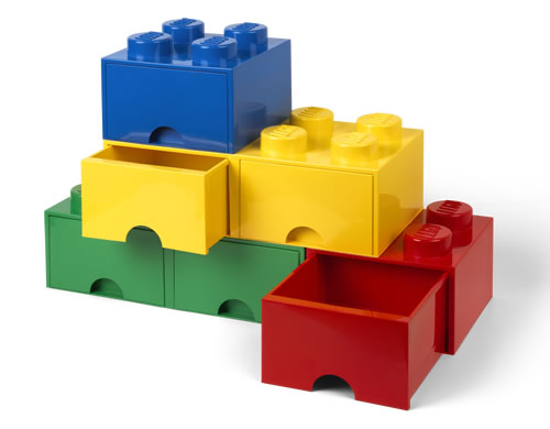 Giant LEGO brick storage drawers