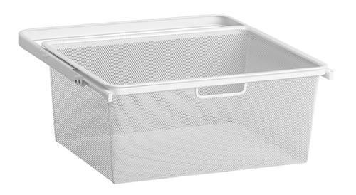 Mini 45cm Mesh Gliding Drawer & Basket - Medium White
