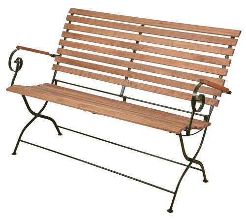 Wooden fold flat garden bench