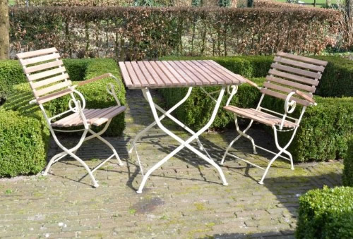Wooden folding garden table