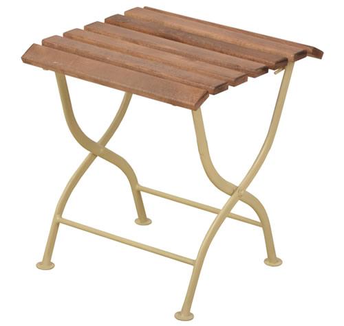 Wooden folding garden side table
