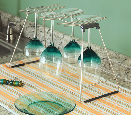 Wine glass drying rack