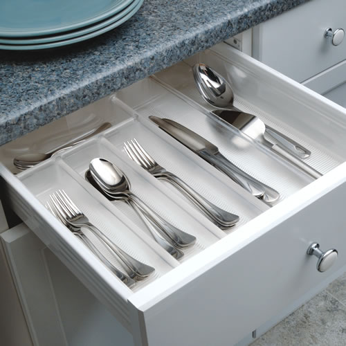 Expandable Cutlery Organiser Idesign Cupboard Drawer