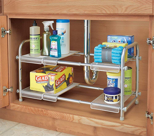 10 Amazing Ideas To Utilize The Space Under The Sink For Storage: Under Sink Organiser - Cabrini