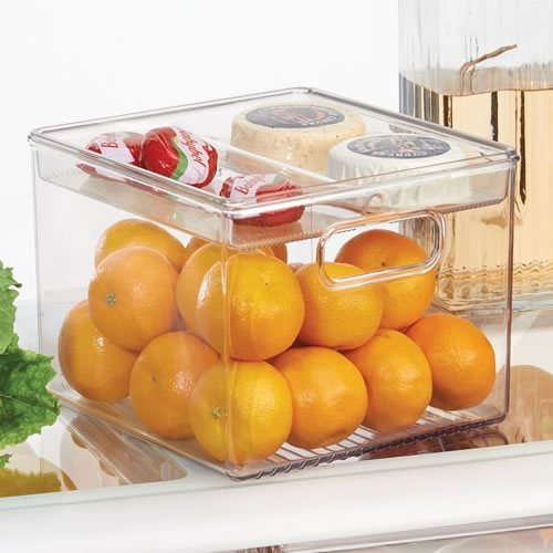 Set of 2 fridge storage binz