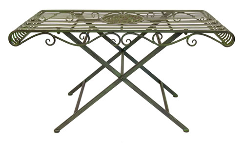 Powder coated steel garden coffee table