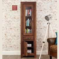 Narrow Glazed Bookcase - Mayan