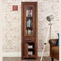 Narrow Glazed Bookcase - Mayan