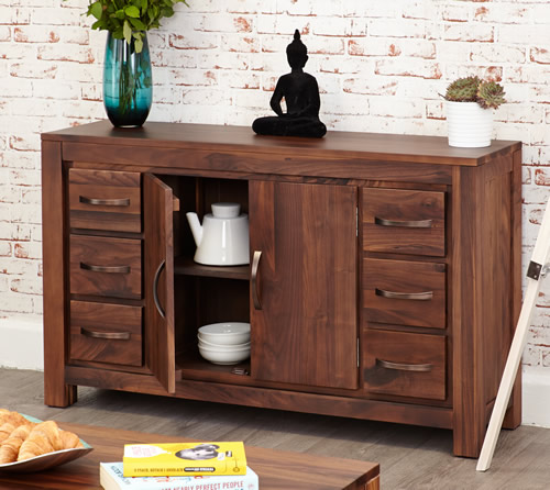 Solid mahogany 6 drawer sideboard