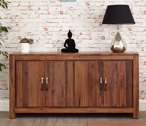 Solid walnut large sideboard