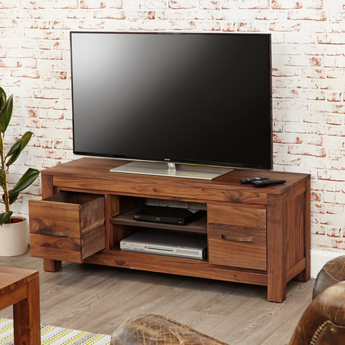 Solid Walnut Widescreen TV Cabinet - Mayan