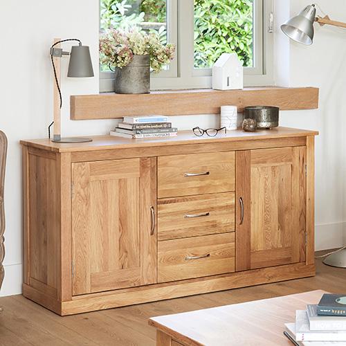 Solid Oak Large Sideboard - Mobel